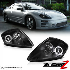 (CLEAN DESIGN) 2000-2005 Mitsubishi Eclipse Black Angel Eye Head Light Projector