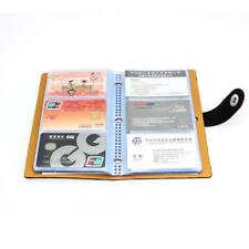 Leather 150 Credit Card Holder Book Business Organizer ID Case Office Wallet New