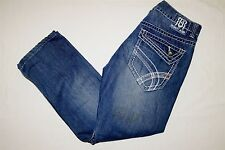 Mens Request Premium Jeans Size 33x28 Accent Stitching Flap Pockets  W33 L28