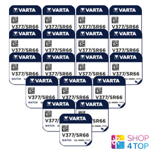 18 VARTA 377 SR626SW BATTERY SILVER 1.55V COIN BUTTON CELL WATCH EXP 2021 NEW