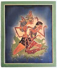 AMPIO QUADRO BATIK TAILANDESE ORIGINALE, dipinto a mano su seta - Firmato