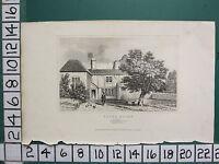 C1830 Piccolo Antico Stampa ~ POPE'S Casa Berkshire