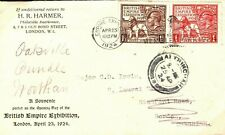 More details for gb 1924 wembley *harmers* fdc & letter empire exhibition first day cover a4g50