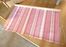 LAURA ASHLEY MTM Roller Blind Eaton Stripe Berry LINEN 146cm Wide x 210cm Long