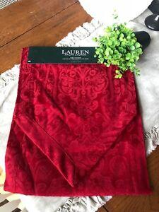 "RALPH LAUREN PAISLEY RED  TABLE RUNNER 15"" x 72"" NEW"