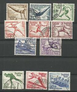 German Third Reich Stamp --   1936 Olympics Summer & Winter Set ..