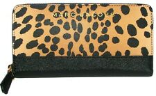 MARC JACOBS Leopard Multi Saffiano Leather Zip-Around Clutch Wallet NWT