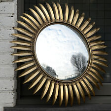 Vintage Mid Century Hollywood Regency French Sunburst Starburst Convex Mirror