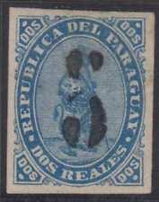 PARAGUAY 1878 Sc 5 KEY VALUE HINGED MINT F,VF SCV$325.00