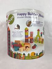 Oops Little Helper Happy Building Blocks Wooden Block Toys For Baby – 50 Pieces