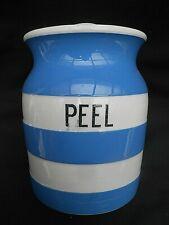 T.G.Green CORNISHWARE Blue & White ** PEEL ** Storage Jar