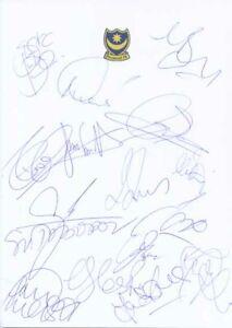 Portsmouth FC - Signed Team Sheet - COA (14946)