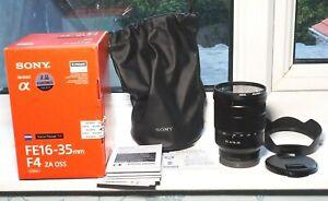 Sony Vario-Tessar T* FE 16-35mm f/4 ZA OSS Lens Full-Frame E-Mount MINT