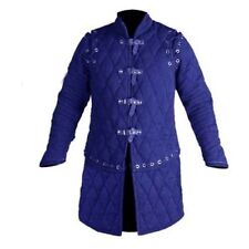Medieval Blue Thick Padded Gambeson Jacket Movies Custome Sca