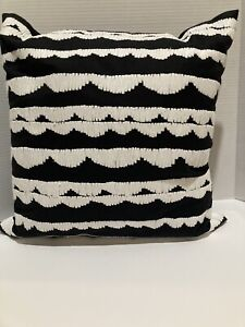 Kate Spade Scallop Row Throw Toss Decorative Pillow Black and White