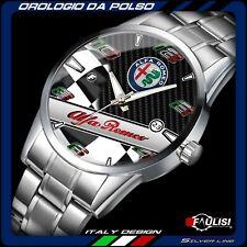 Orologio da polso Alfa Romeo Racing checkered stainless watch Silver GTA montre