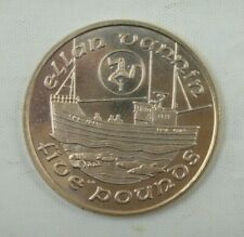 Isle of Man 5 Pounds Coin, 1989, Fishing Boat, Ellen Vannin