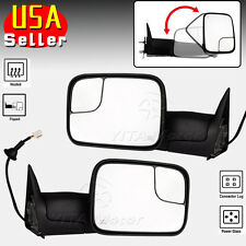 Pair for 98-01 Dodge Ram 1500 98-02 Ram 2500 3500 Towing Mirrors Power Heated