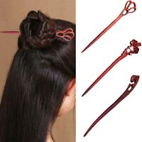 au Vintage Hair Styling Wood Carved Hairpin Handmade Chopstick Hair Stick