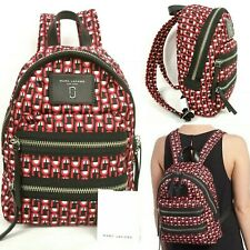 Marc Jacobs Mini Biker Nylon Backpack Logo Scream Print Red/Black/Multi