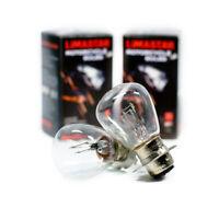 2 x RP30 Motorrad Lampe P15d25-3 Roller Birne 25/25W Glühbirne 12V