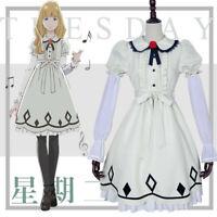 Anime CAROLE & TUESDAY Tuesday Dress Lolita Cosplay Costume Full Set Wig Shoes