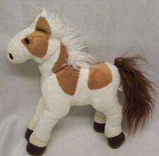 "Animal Alley SOFT TAN & WHITE HORSE PONY 11"" Plush STUFFED ANIMAL Toy"