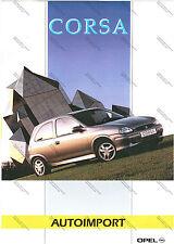 DEPLIANT BROCHURE PROSPEKT - OPEL CORSA - ITALIANO - AUTOIMPORT OPEL 1995