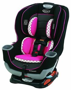 NIB Graco Baby Extend2Fit Convertible Car Seat Infant Child Safety Kenzie PINK