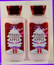 2 Bath & Body Works Holiday Winter Candy Apple Body Lotion Shea & Vitamin E
