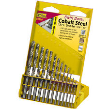 "Ivy Classic 13 Pc. Cobalt Drill Steel Bit Set 1/16""- 1/4"" Index 135° Split point"