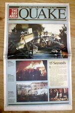 1989 California newspaper LOMA PRIETA EARTHQUAKE b4 WORLD SERIES @ San Francisco