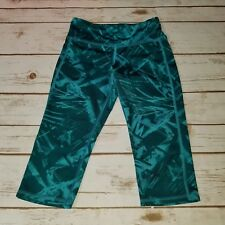 EUC Girl's Old Navy Green Active Go-Dry Capri Pants Size Small 6/7