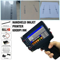 Handheld Inkjet Printer 600DPI Ink Date Words QR Code Barcode Logo Machine DIY