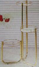 Blumenständer aus Metall gold eloxiert B-Ware Blumensäule Blumentreppe