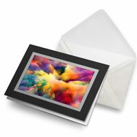 Greetings Card (Black) - Watercolour Cloud Explosion Paint Birthday Gift #14638