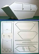 Polystyrol Modell Bausatz Absetzcontainer Absetzmulde CNC gefräst 1/24  (06)