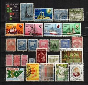 Colombia stamp lot 28 used  in good condition used as seen combine shipping