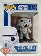 "STORMTROOPER Star Wars Pop Movies 4"" inch Vinyl Bobble Head Figure #5 Funko 2011"