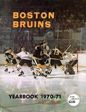 1970-71 Boston Bruins Team Yearbook Orr Esposito Sanderson Bucyk Cheevers NHL