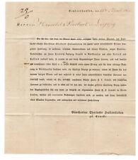 1823 Hist. Dokument Verkauf Firma Hallensleben Sondershausen a Lemcke Nordhausen
