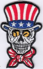 """10 Skull with Hat 3 stars Embroidered Patches 3""""x1.8"""""""