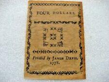 /Paper Money 1778 4 dollars,copy