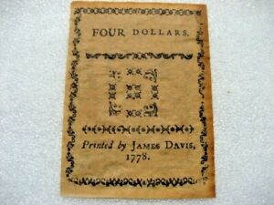 /Paper Money 1778 4 dollars,copy