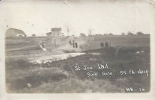 1910s PHOTO ST JOSEPH COUNTY INDIANA SINK HOLE 59 FT DEEP
