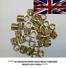 METRIC THREADED SOLID BRASS BARBED INSERTS FOR PLASTIC,PRESSFIT(M2.5@£12.40/100)