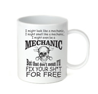 Coffee Cup Mug Travel 11 15 oz Might Look Smell Like Mechanic Won't Fix Free