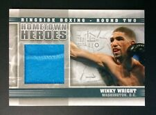 Winky Wright Fight Worn Material Swatch Boxing Card Ringside Round 2 Hh-20