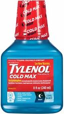 TYLENOL Cold Max Nighttime Cool Burst Liquid 8 oz (Pack of 4)