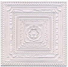 3D Square Ceiling Embossed Decorations 16 Pieces, Dolls House Miniature